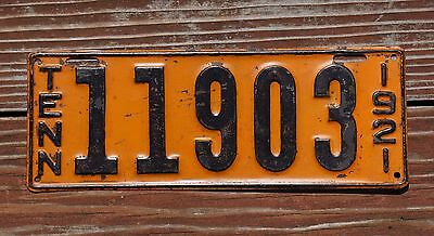 1921 Tennessee License Plate - Original Paint