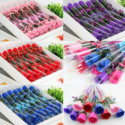 20Pcs Real Touch Latex Rose Flower Fake Flower Wedding Home Design Bouquet Decor