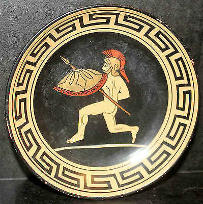 Archaic Art Handmade Terracotta Greece Plate Reproduction 510 Bc Armine