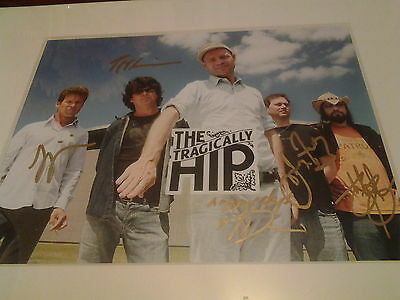 Tragically Hip Signed Photo(11by14)whole band,frame not included