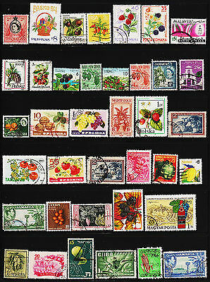 OPC 112 World Wide Collection Food Fruits vegetables on Stamps #22804