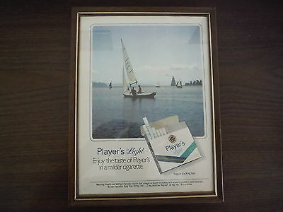 """VINTAGE PLAYERS LIGHT TABACO ADVERTISEMENT 11 x 81/2 """""""