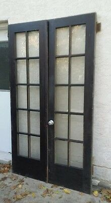 VINTAGE Set 10 PANE FRENCH DOORS ARCHITECTURAL SALVAGE