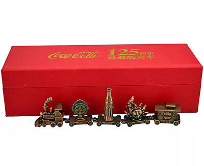 Very Rare China Coca-Cola Chinese 125th Anniversary Model Trains With Box