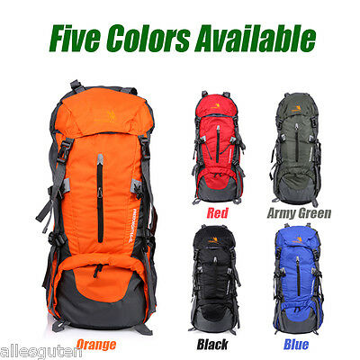 65+5L Outdoor Hiking Bag Camping Backpack Mountaineering Waterproof Rucksack UK