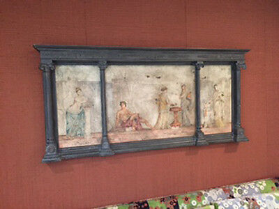 Antique Classic Roman Carved Column Wall Decor Painting Art  Large 3 Panel