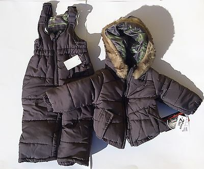 WeatherProof Baby Infant Heavy Weight Warm Puffer Snowsuit (12 Months) Charcoal