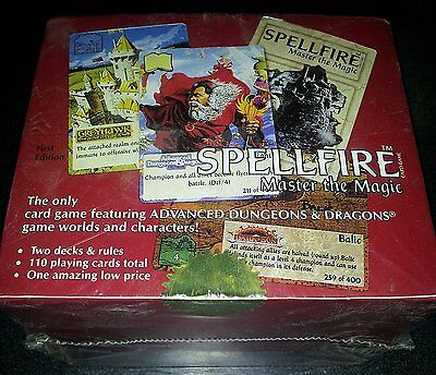 Spellfire Master the Magic Sealed First Edition Box of Starter Decks