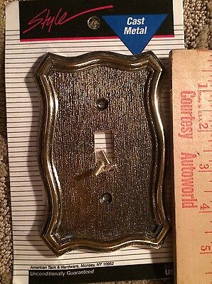 Vintage NOS SWITCH Plate Cover by American Tack & Hardware Co. 1968 BRASS