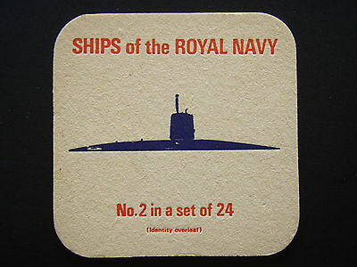 SHIPS OF THE ROYAL NAVY No.2 IN A SET OF 24 SUBMARINES NUCLEAR-POWERED COASTER