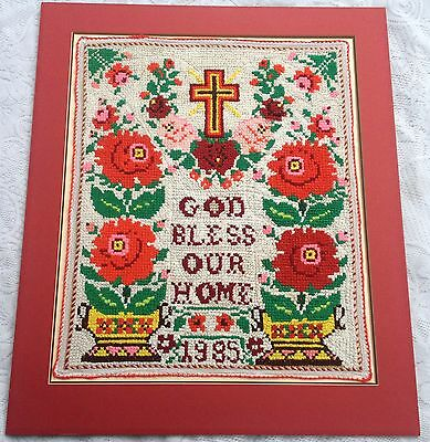 God Bless Our Home Traditional Vintage Eastern European Needlework (996)