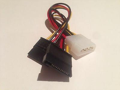 NEW 4 Pin IDE Molex to 2 SATA Power Cable Splitter Adapter AUS Fast Despatch