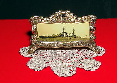 USS Arizona Port Side View Miniature Fancy Brass Picture Frame Free Shipping