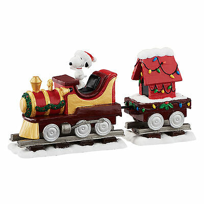 Snoopy Christmas Train Set by Department 56