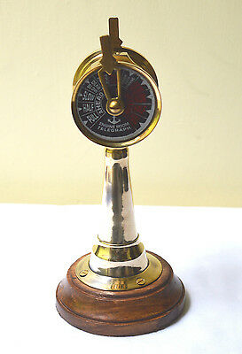 Nautical Ship Engine Room Telegraph Vintage Marine Brass Collectible Telegraph