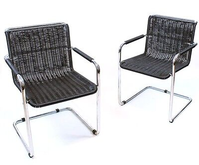 1 of 2 STUNNING VINTAGE GERMAN BAUHAUS CANTILEVER ARMCHAIRS BY TECTA