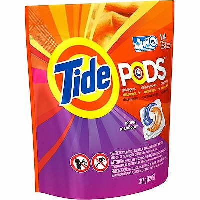 Tide Pods Spring Meadow Scent Laundry Detergent Pacs 14 count