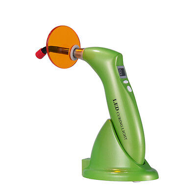 Woodpecker Type Dental LED Curing Light  Wireless Cordless Lamp guide tip Green