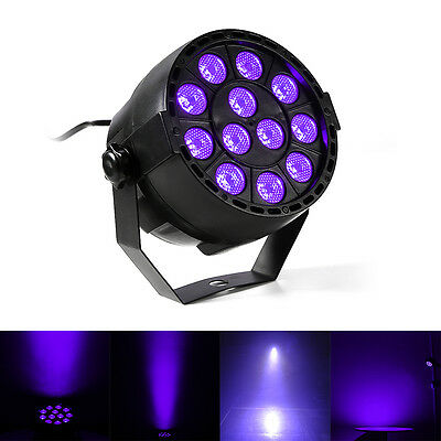 12 Pcs 3W Par Violet UV LED Par Can DJ Stage Lighting UV Par Light Christmas