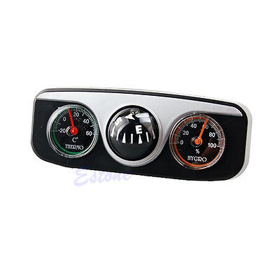 3in1 Guide Ball Boat Car Vehicles Auto Navigation Hygrometer Thermometer Compass