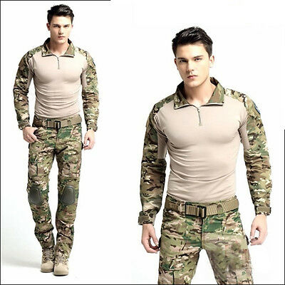 Men Army Military Combat Pullovers Sweatshirt Tracksuit Workout T Shirt Jumper