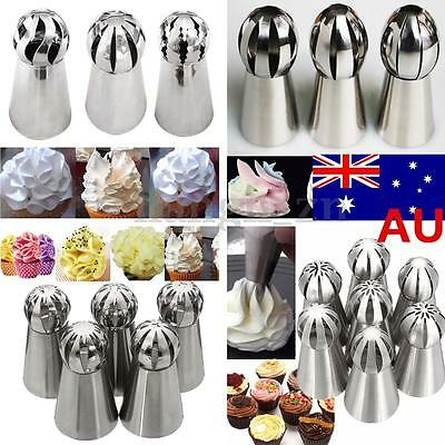 Tulip Russian Flower Ball Cake Decorating Icing Piping Nozzles Tips Baking Tool