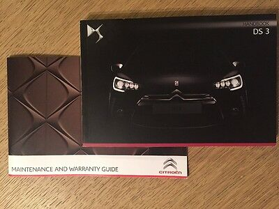 Genuine Citroen Ds3 Owners Manual Handbook & New Ds Servicebook Genuine