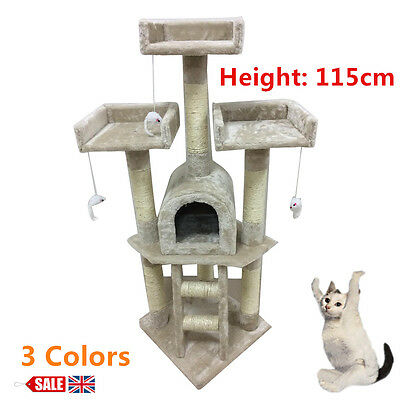 Cat tree scratching post activity centre toys scratcher climbing toy house new