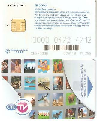 OTE tv satellite card (chip card and Z)