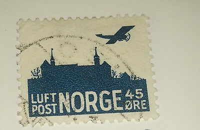 Norway Airmail Stamp 1937