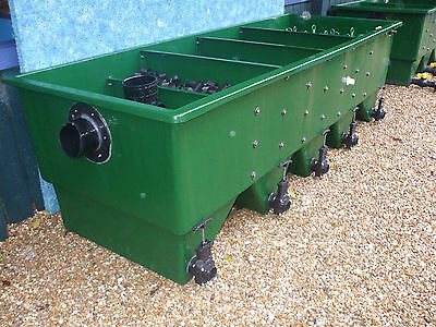 USED Kockney Koi 20000 Fibreglass Multibay Filter Fish Pond pump / gravity fed.