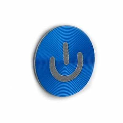 Metal Aluminum Blue Home Button Sticker for iPhone 4 4S 5 iPad 2 3 WS