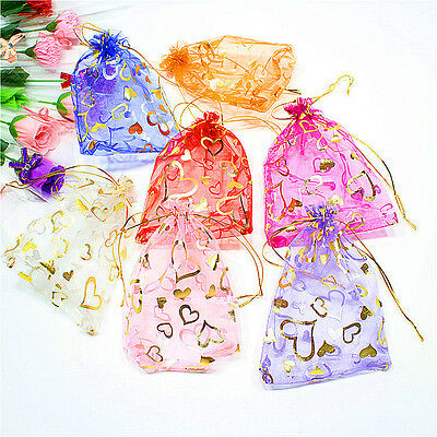 Organza Bag Sheer Bags Jewellery Wedding Candy Packaging Beads Gift 100PCS