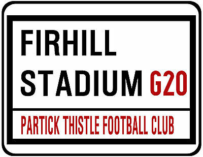 Partick Thistle F.c. Street Sign On Mouse Mat / Pad.  Firhill Stadium