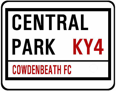 Cowdenbeath F.c. Street Sign On Mouse Mat / Pad.  Central Park