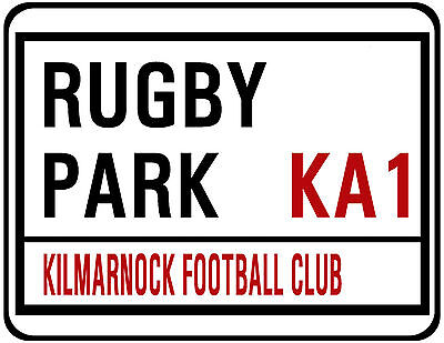 Kilmarnock F.c. Street Sign On Mouse Mat / Pad. Rugby Park