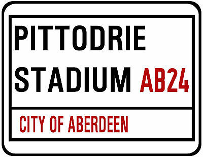 Aberdeen F.c. Street Sign On Mouse Mat / Pad. Pittodrie Stadium