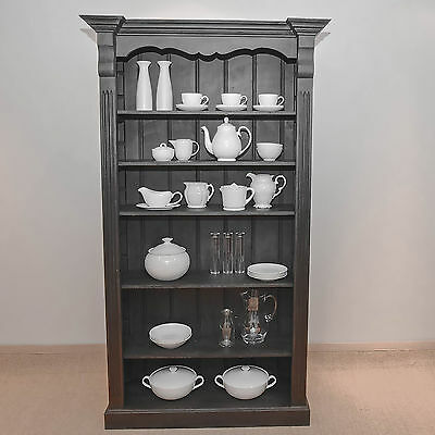 Large Painted Pine Bookcase, Shelving, Storage, Display, Shabby Chic Annie Sloan