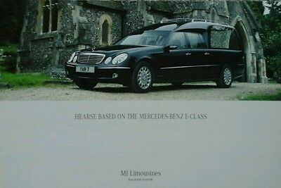 Mercedes E Class Hearse by M J Limousines Ltd  Sales Brochure - with Price List