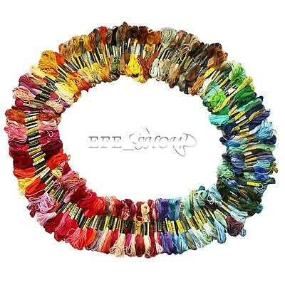200pc Needlepoint/Embroidery THREAD Cotton Embroidery Floss/Mixed Lot Skeins New