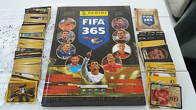 Panini Brasil Fifa 365 2017  Empty Hardcover Album + All 672 Stickers + 1 Packet