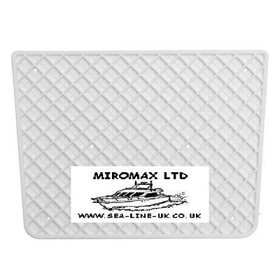 COVER TRANSOM PLATE PLASTIC OUTBOARD MOUNTING WHITE boat boats yacht marine