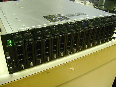 DELL PowerVault MD3000 with FIFTEEN x 450GB 15K disks BUT blinking orange light