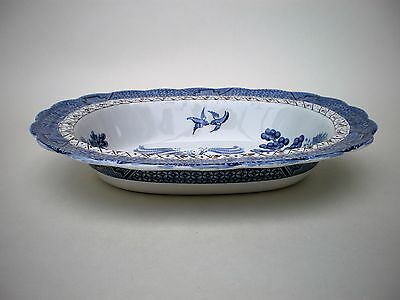Booths Real Old Willow Oval Serving Dish / Vegetable Bowl A8025