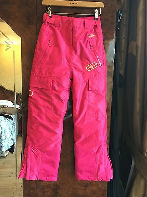 RRP £69.99 NO FEAR GIRLS HOT PINK SKI/SNOW TROUSERS AGE 11-12 Years Bnwot
