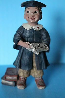 Sarah's Attic Boy Graduate Limited Edition Numbered 200 Of 2000 Holding Diploma