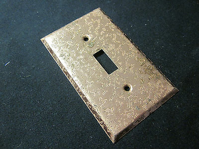 Vintage rare Edmar Creation copper plated steel switch plate cover