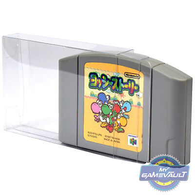 10 x N64 Game Cartridge Cart Protector STRONG 0.4mm PET Plastic Case Nintendo 64