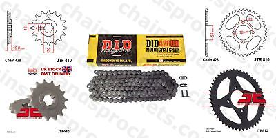 DID- Heavy Duty Chain Kit 14t 48t 428HD 132 fits Hyosung XRX125 SM 07-08