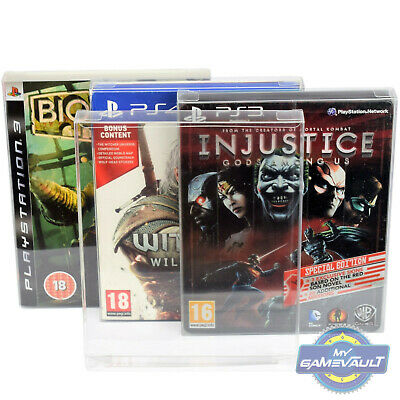 10 x PS3/PS4 Steelbook Game Box Protectors STRONG 0.4mm PET Plastic Display Case